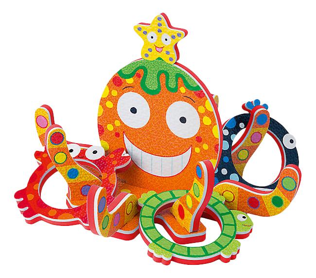 Игрушка для купания ALEX Кольцеброс Осьминожка фото