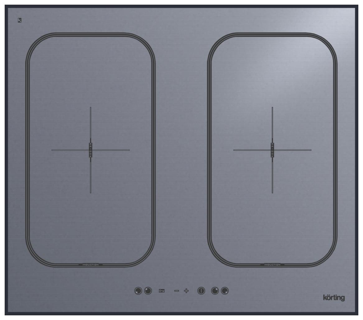 Встраиваемая варочная панель индукционная Korting HIB 6409