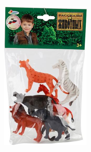 Купить Игровой набор Дикие животные, 6 штук 7, 5-10 см Играем вместе, Играем Вместе, Игровые наборы