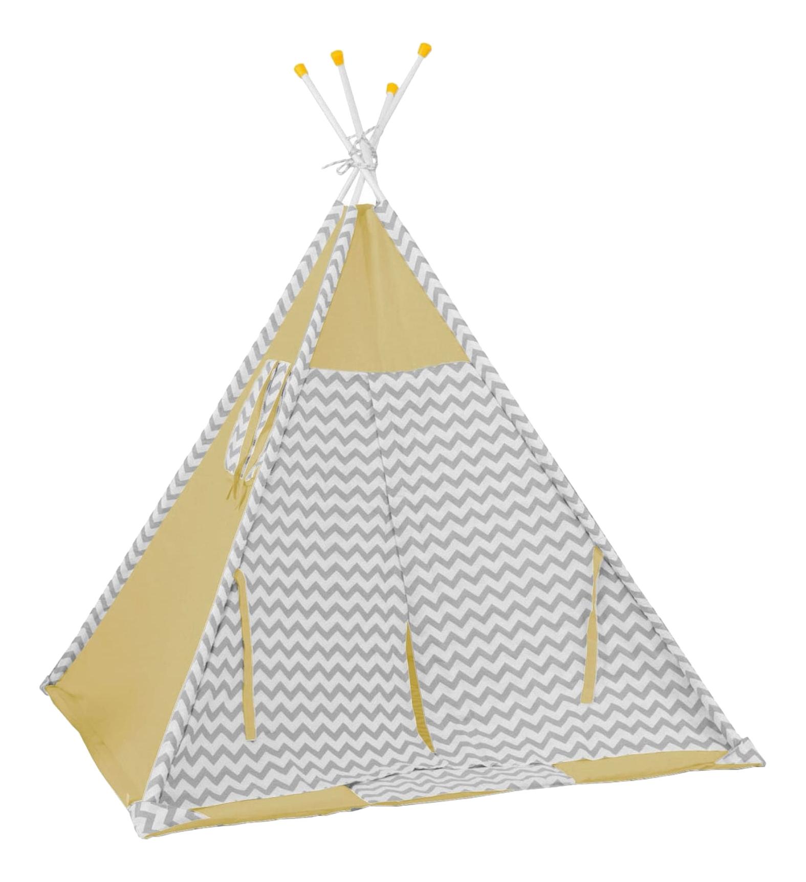 Палатка вигвам Зигзаг желтый Polini