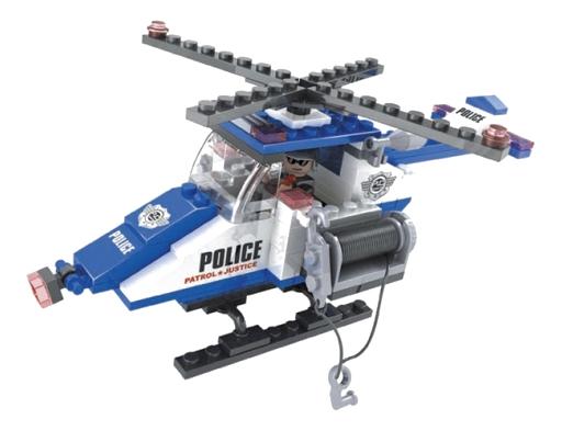 Купить Конструктор полицейский вертолет 126 деталей Г35844, Конструктор Полицейский вертолет 126 деталей Г35844 Ausini,