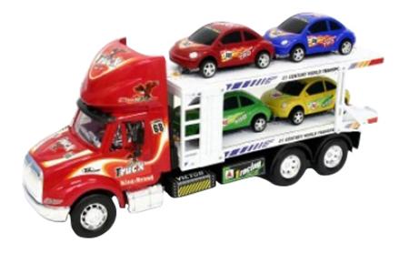 Автовоз инерционный с 2 машинами Shenzhen Toys В79731 фото