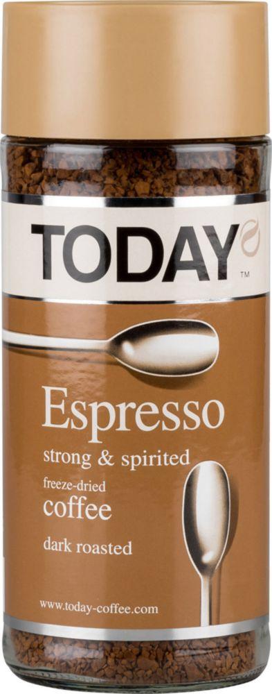 Кофе растворимый сублимированный Today espresso 95 г