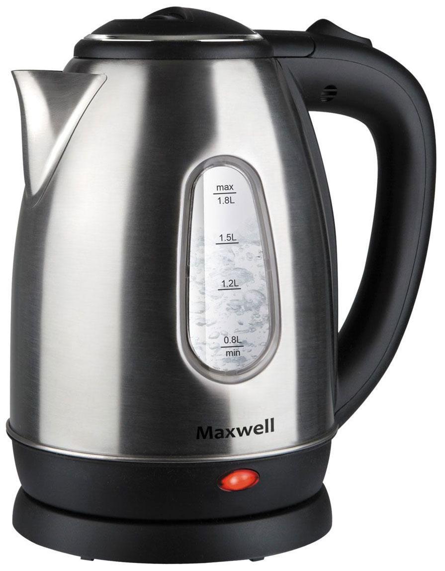 Чайник электрический Maxwell MW 1082ST Black/Silver