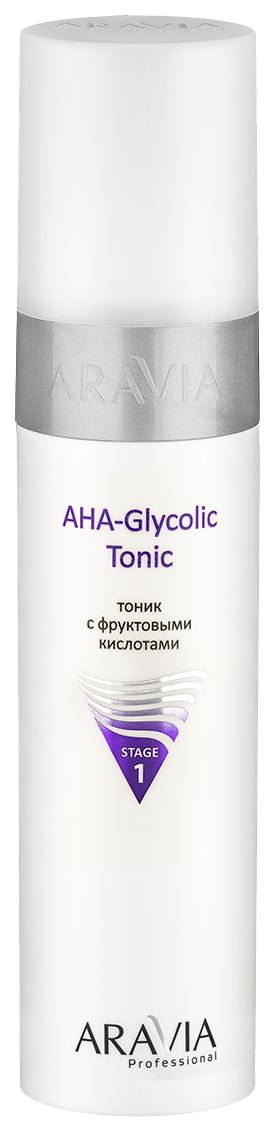 Купить Тоник для лица Aravia AHA Glycolic Tonic с фруктовыми кислотами 250 мл, Тоник с фруктовыми кислотами AHA Glycolic Tonic, Aravia Professional