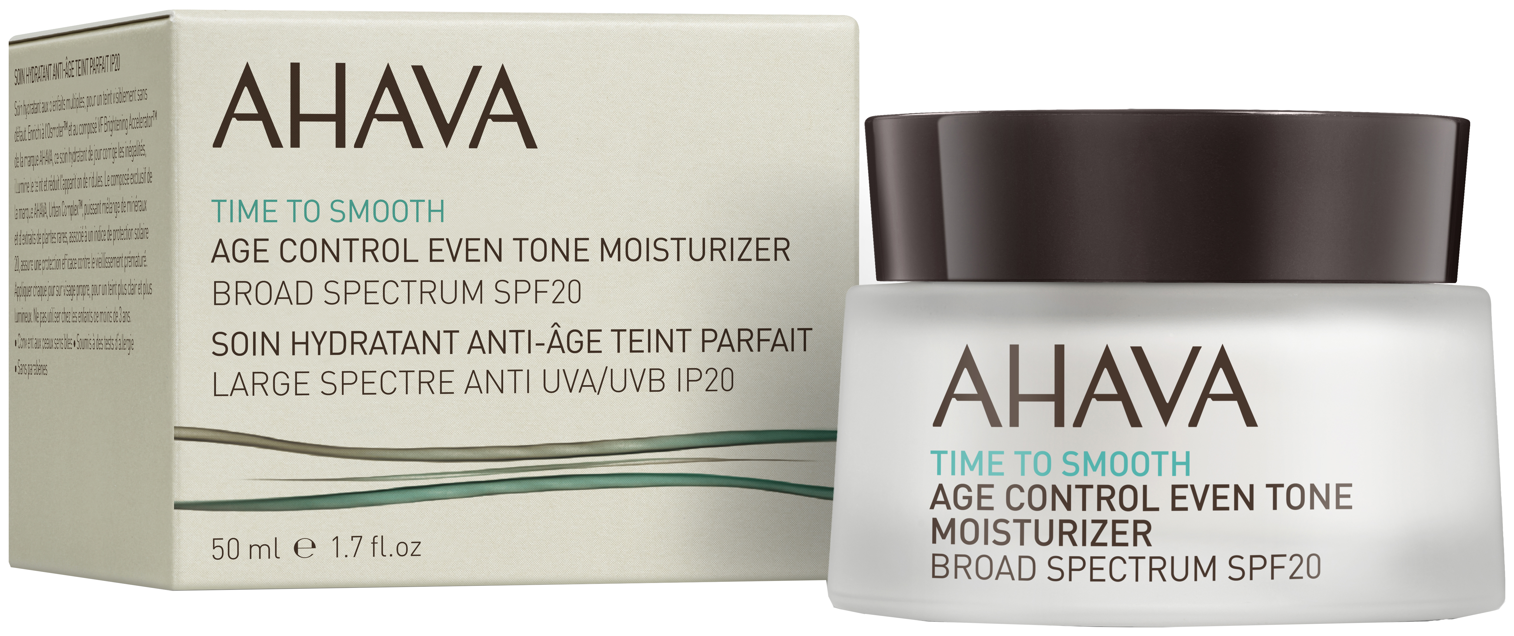 AHAVA TIME TO SMOOTH AGE CONTROL EVEN TONE MOISTURIZER SPF20