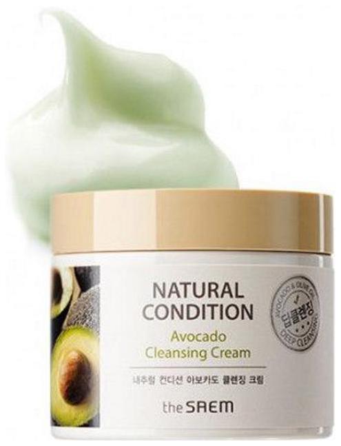 Крем с авокадо очищающий The Saem Natural Condition Avocado Cleansing Cream 300 мл