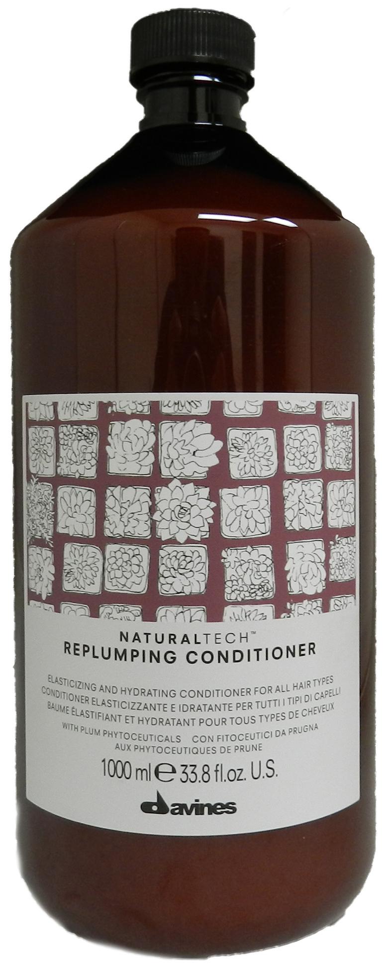 Купить Кондиционер для волос Davines Natural Tech Replumping Conditioner уплотняющий 1000 мл