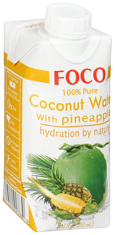 Вода кокосовая Foco натуральная с соком ананаса 0.33 л