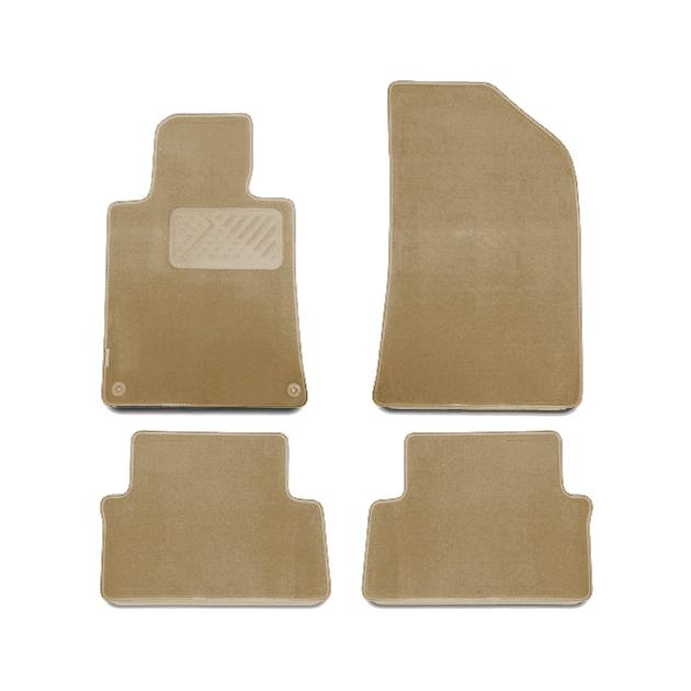 Коврики в салон Klever Premium для TOYOTA Highlander 2010-2013, 4 шт. текстиль, бежевые
