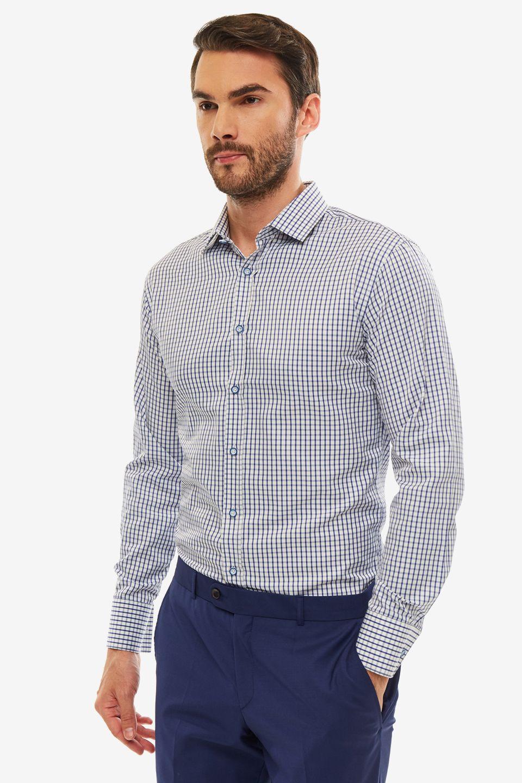 Рубашка мужская BAZIONI синяя
