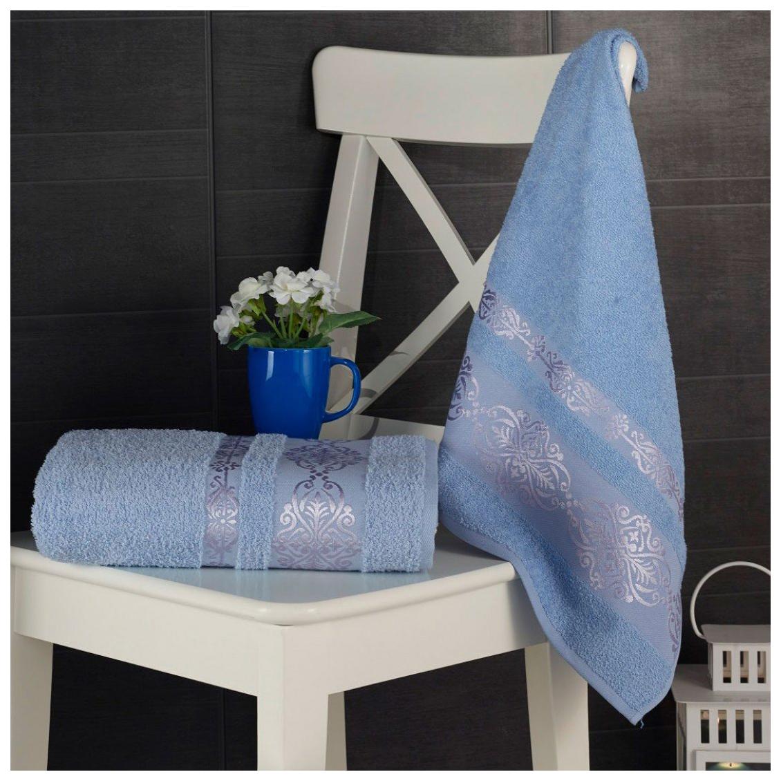Комплект полотенец Karna Rebeka Голубой, 50х90 см +70х140 см