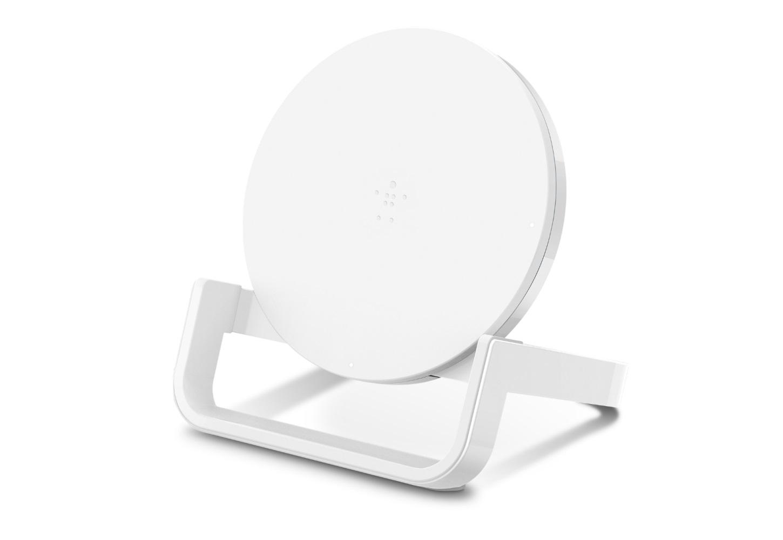 Беспроводное зарядное устройство Belkin с подставкой 10Вт, белый фото
