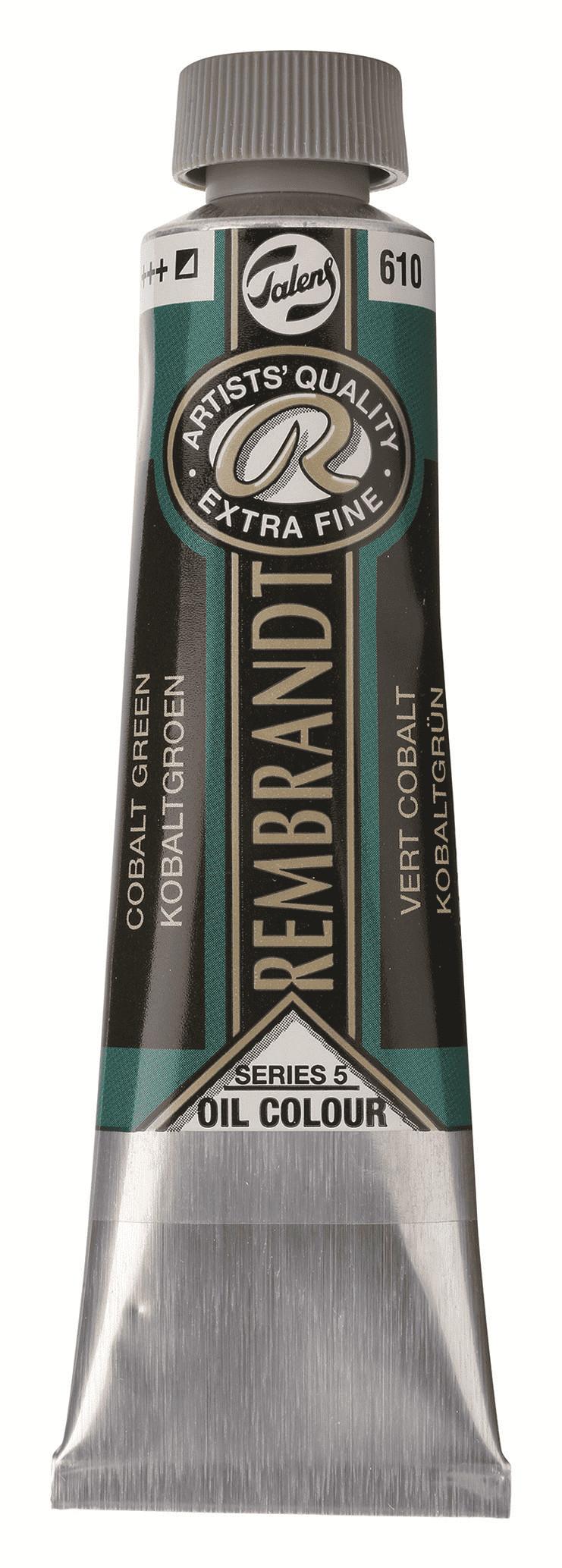 Краска масляная Rembrandt туба 40мл №610 Кобальт зелёный фото