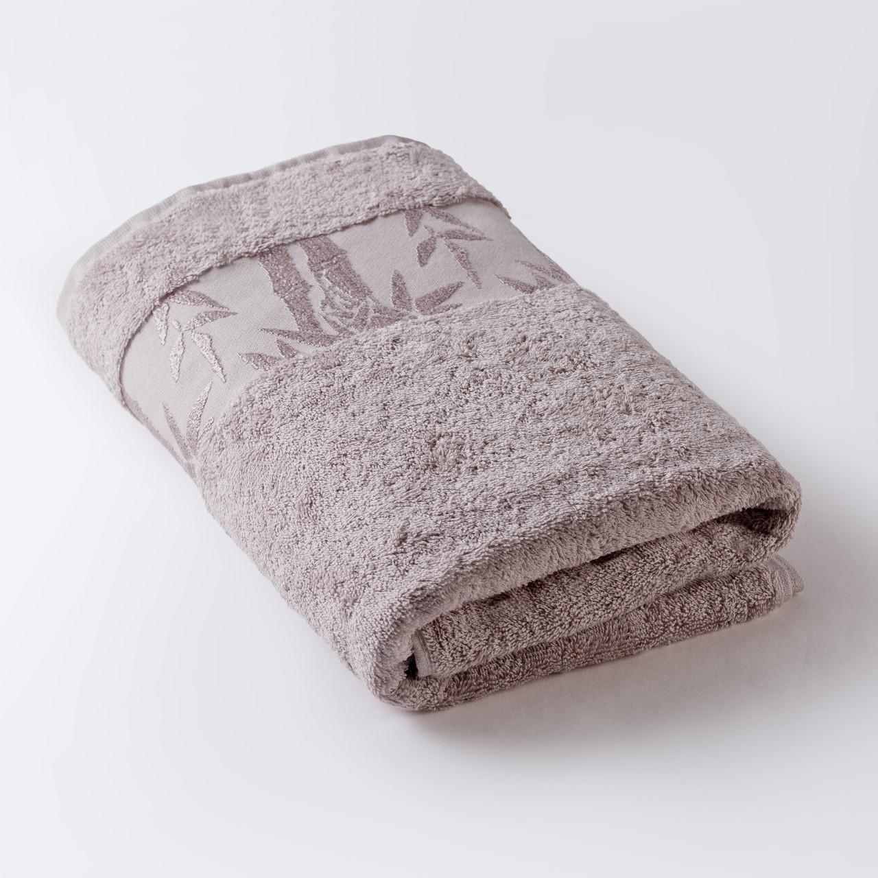 Полотенце Бамбук бежевый 91х150