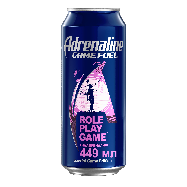 Энергетический напиток игровая энергия Adrenaline game fuel жестяная банка 0.449 л
