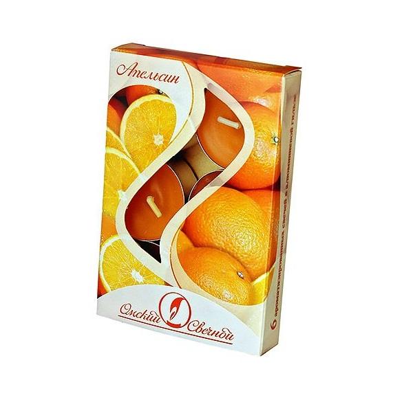 Ароматические свечи Омский Свечной апельсин 3,8х1,6 см 001807-свеча