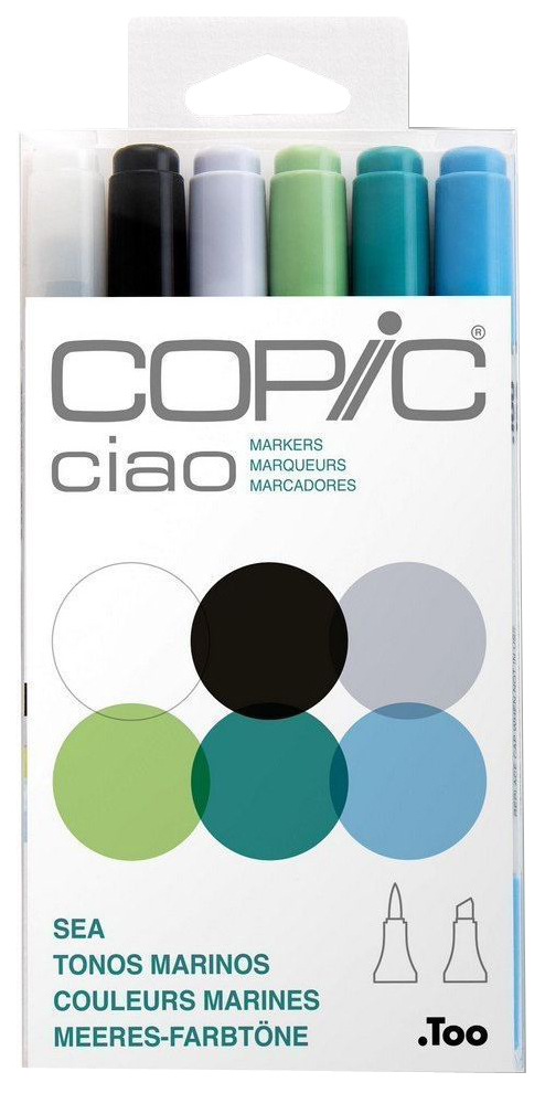 Набор двухсторонних маркеров Copic «Ciao. Океан» 6 цветов