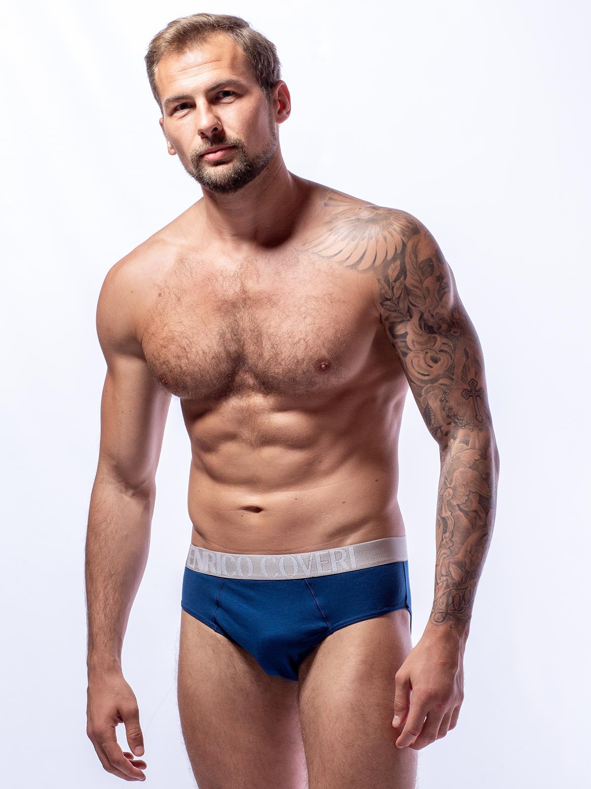 Трусы слип мужские Enrico Coveri голубые XL