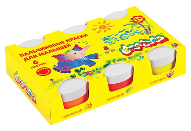Пальчиковые краски для малышей, 6 цветов Каляка