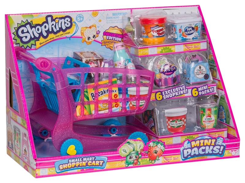 Купить Игровой набор Шопкинс - Тележка для покупок Moose, Детские тележки для супермаркета
