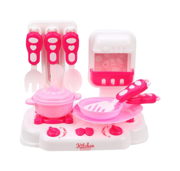 Купить Игровой набор Плита с посудой 11 предметов, в ассортименте, Наша игрушка, Детская кухня