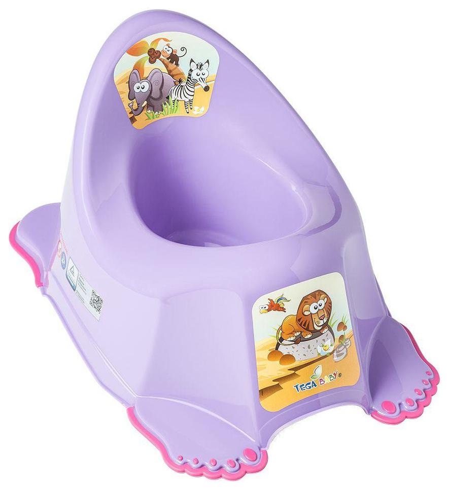 Купить ТЕГА Детский горшок антискользящий SAFARI (САФАРИ) фиолетовый SF-011-128, Tega Baby, Горшки детские