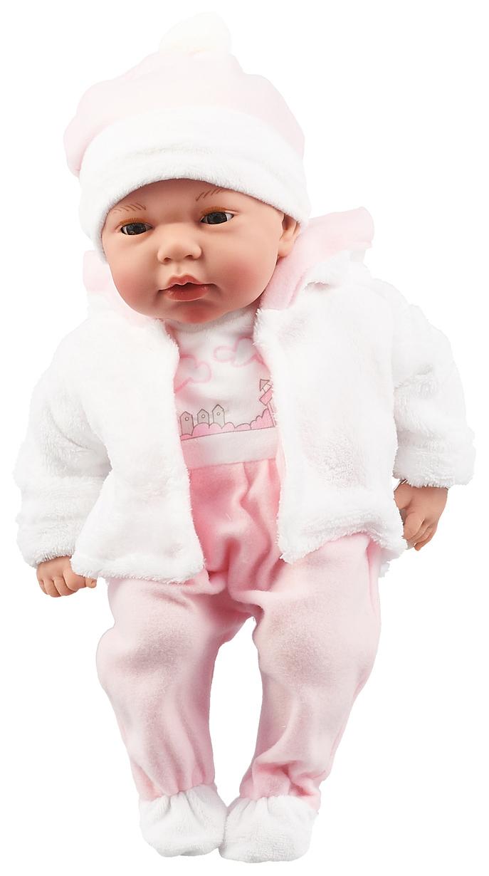 Пупс Arias Elegance в одежде розовых тонов, 38 см, арт. Т16348,  - купить со скидкой