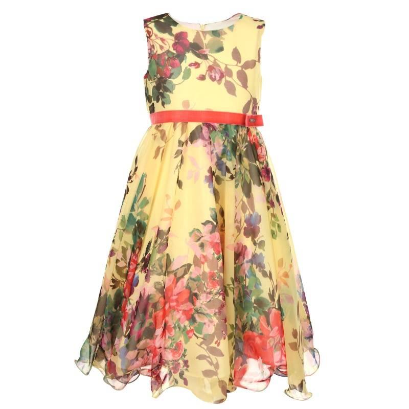 Купить Платье Весна UNONA D'ART, цв. желтый, 134 р-р, Детские платья и сарафаны