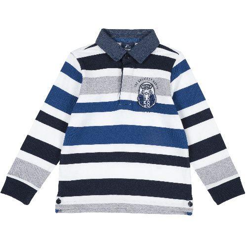 Купить 9033520, Лонгслив-поло Chicco для мальчиков р.92 цв.синий, Кофточки, футболки для новорожденных
