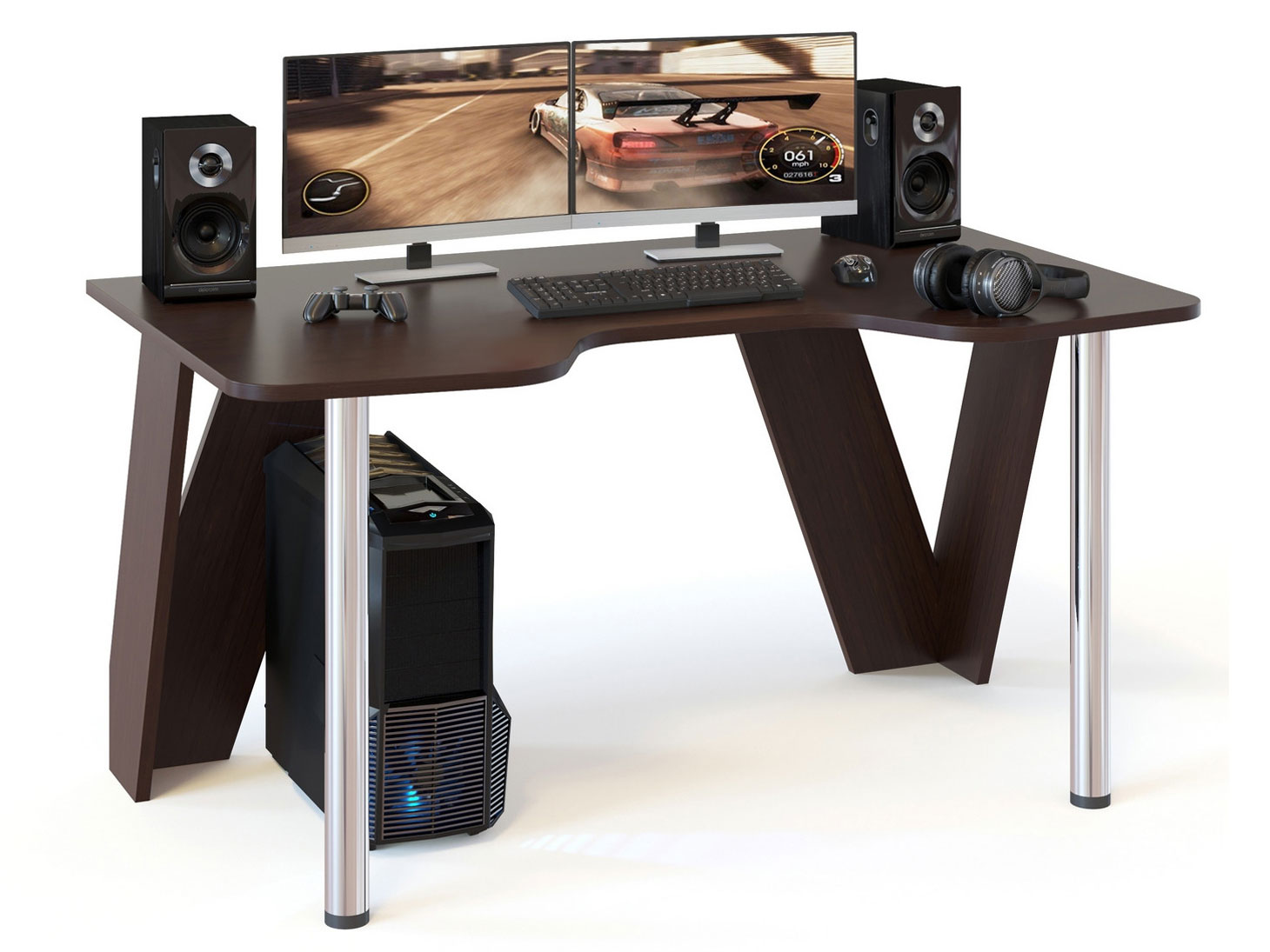 Игровой компьютерный стол Сокол КСТ 116 Венге
