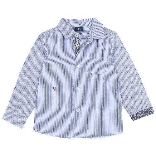 Купить 9054511, Рубашка Chicco для мальчиков, размер 110, цвет голубой,