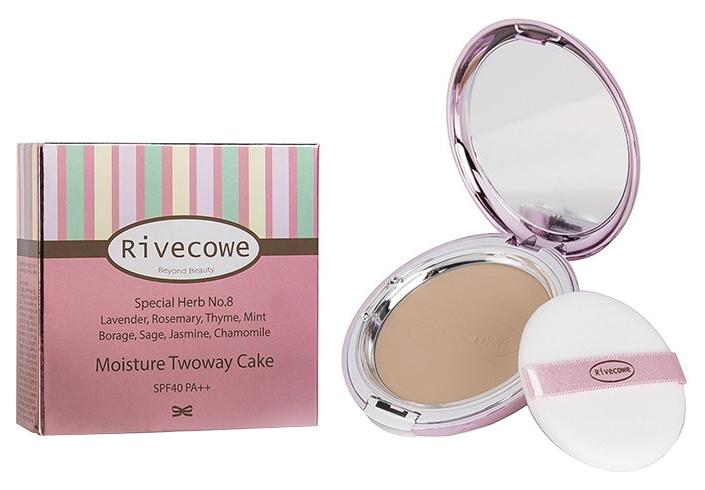 Пудра RIVECOWE Beyond Beauty Moisture Twoway Cake SPF 40 РА++ №21 12 g фото