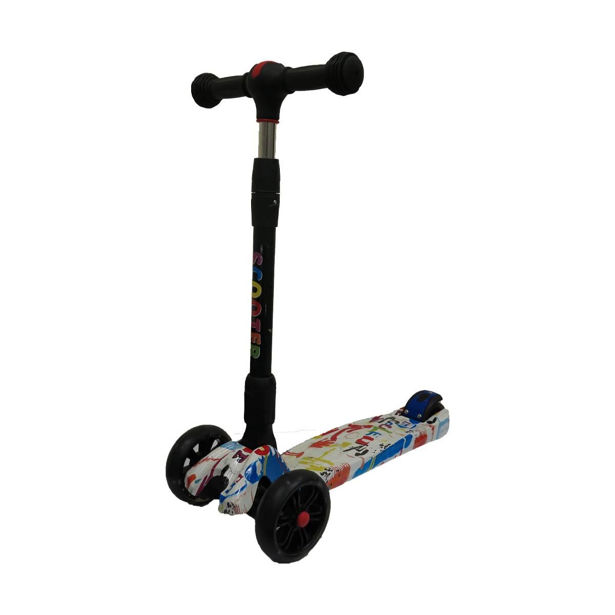 Купить Самокат Scooter больших колеса+свет, 21st Scooter, Самокаты детские