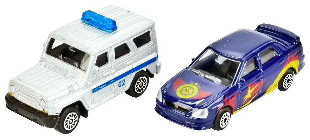 Купить Парковка Технопарк с двумя металлическими машинками P4788A-3R, Детские парковки