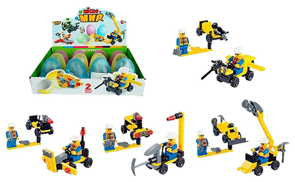 Купить Конструктор 2 в 1 Yako Toys серия Micro Мир, 1 шт. в ассортименте, Конструкторы пластмассовые
