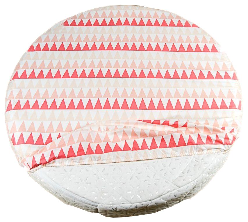 Простыня AmaroBaby Exclusive Creative Collection Triangles круглая на резинке, 75х75х12 см