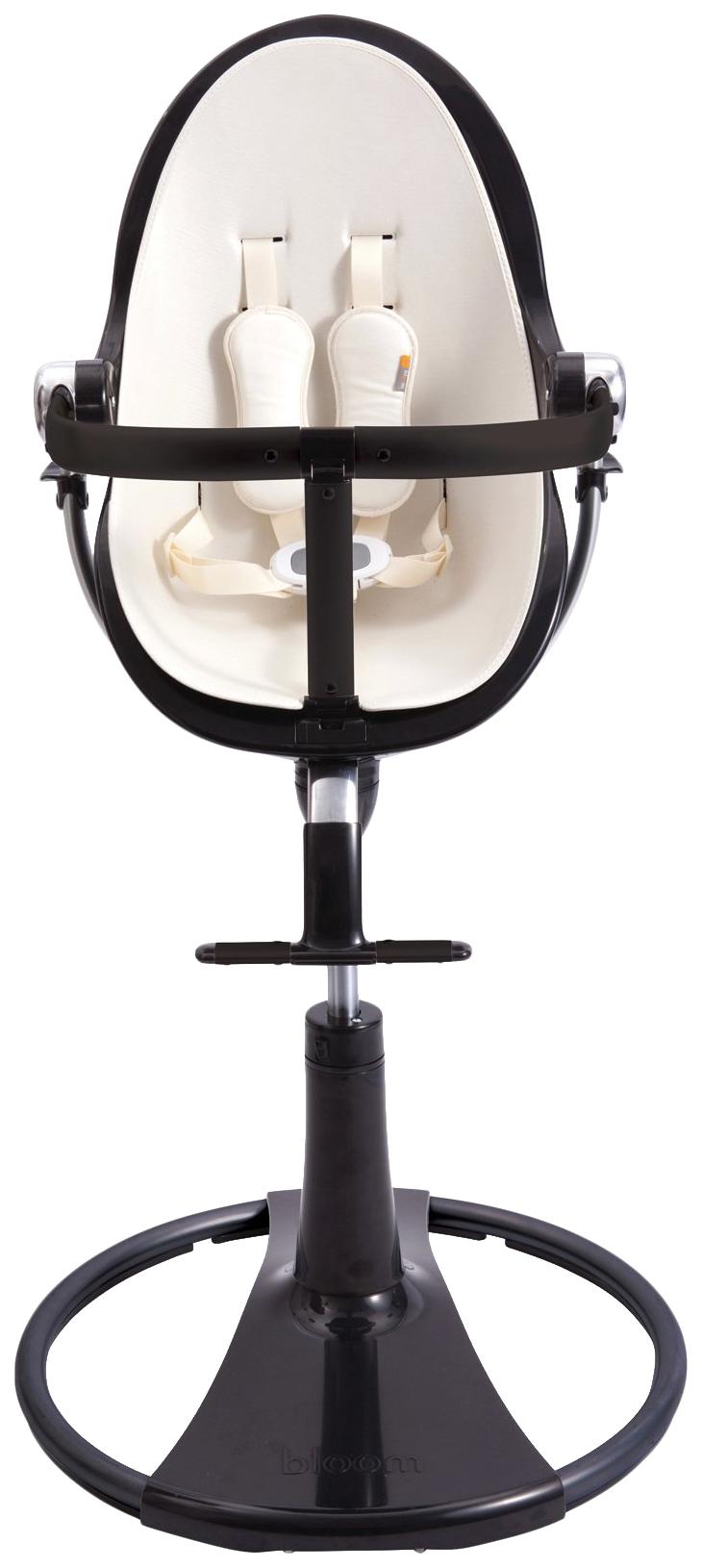 Купить Стульчик для кормления BLOOM Fresco chrome NOIR черный, вкладыш белый, Стульчики для кормления