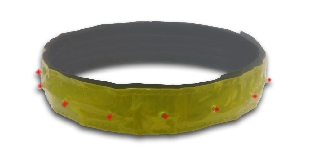 Ошейник для собак Nobby Blink, светоотражающий светодиодный, 40-55 см х 30 мм