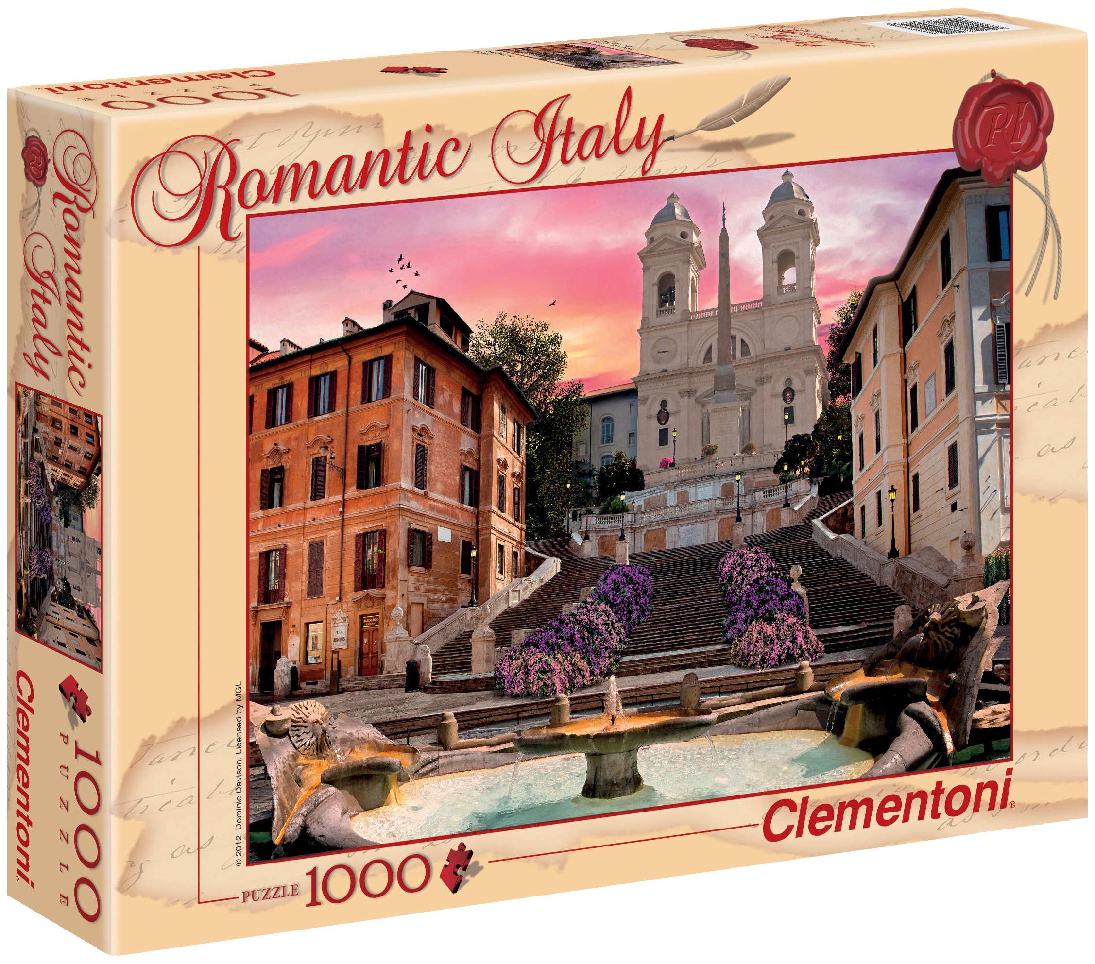 Пазл Clementoni Romantic Italy Рим 1000 элементов фото