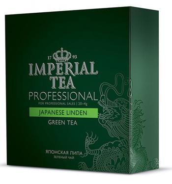 Чай зеленый среднелистовой японская липа Imperial tea professional пакетированный