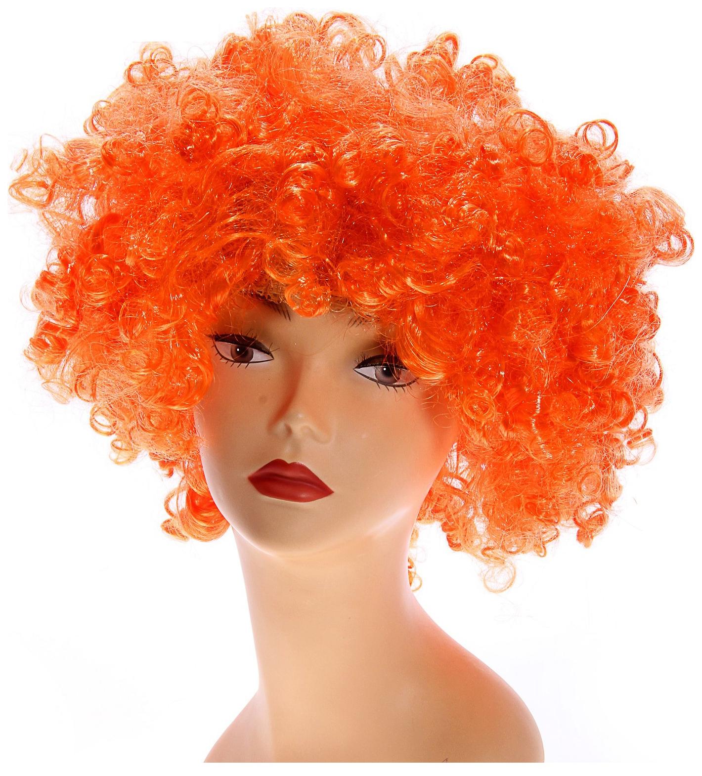 Карнавальный парик Объём, цвет оранжевый, 120 г Страна Карнавалия