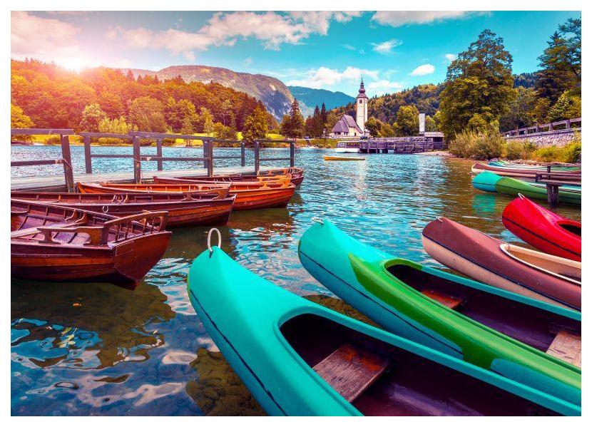 Купить Пазл Konigspuzzle Лодки на горном озере ГИК1000-6522 1000 деталей, Königspuzzle, Пазлы