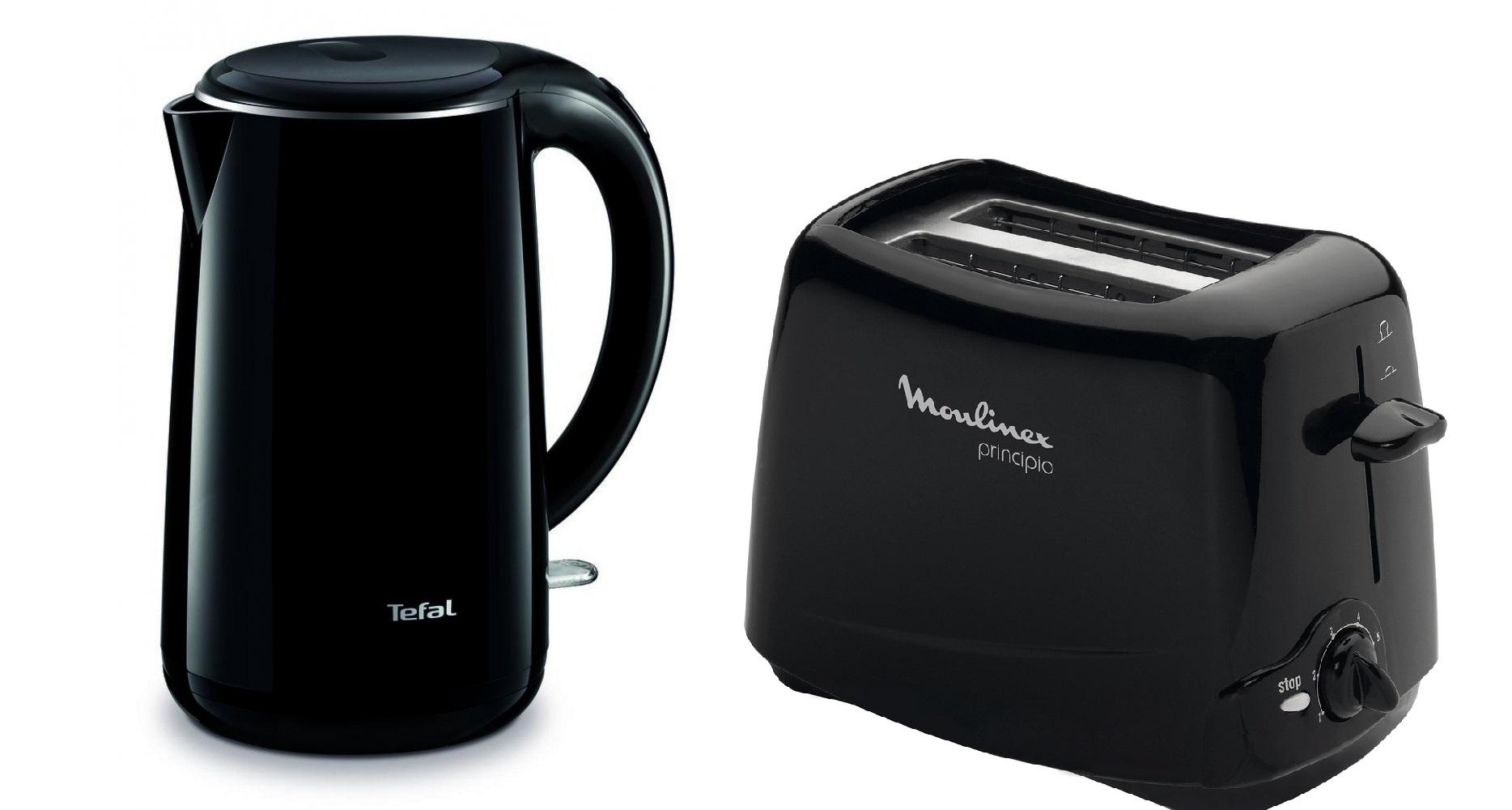 Комплект Чайник Tefal Safe to Touch KO2608 2150 Вт 1,7л + Тостер Moulinex Principio TT1102