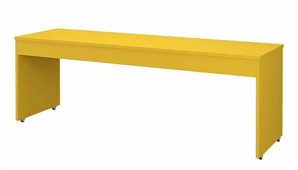 Детский стол письменный большой Polini kids City/Urban, 200x60 см, желтый