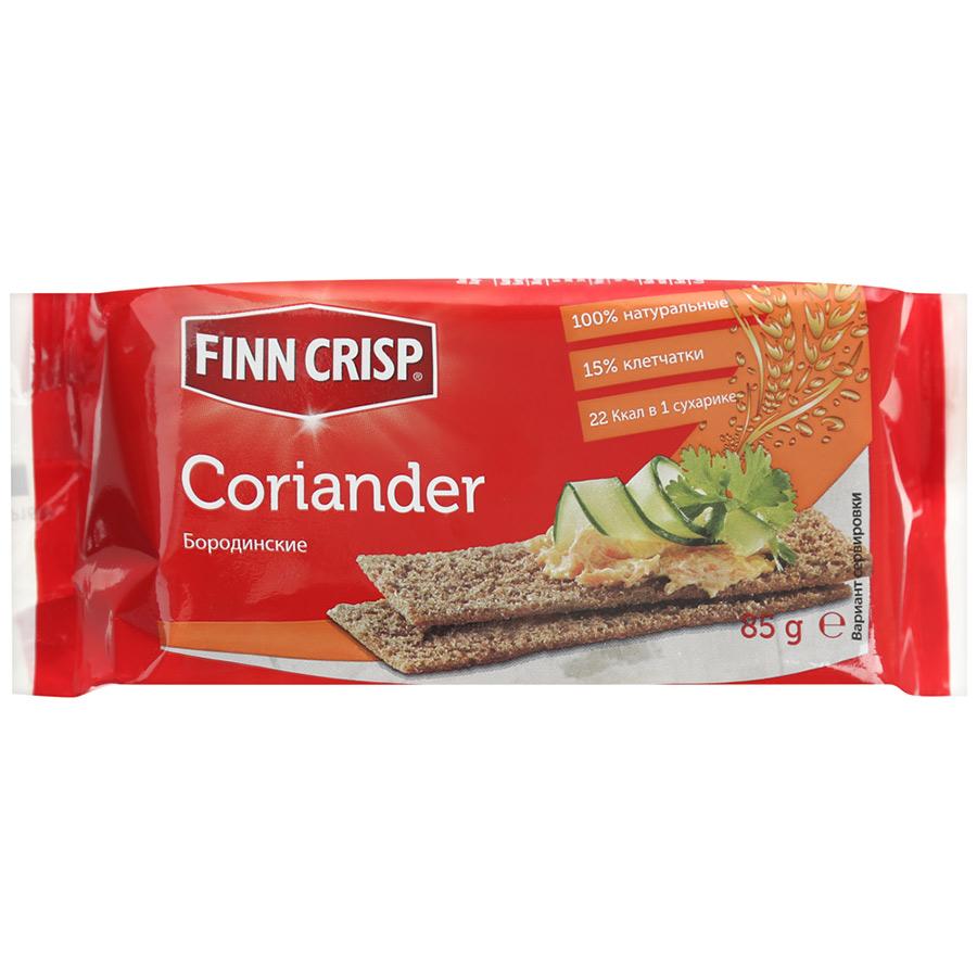 Сухарики Finn Crisp бородинские с кориандром 85 г