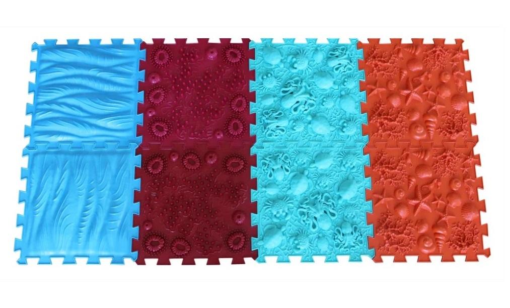 Купить Массажный коврик ОРТО ПАЗЛ, Микс Море , ОртоПазл, Развивающие коврики и центры