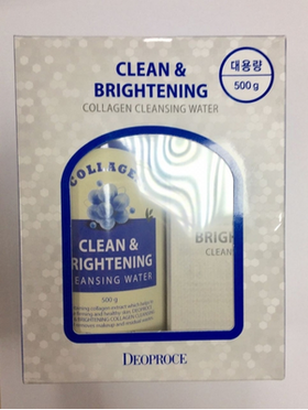 Вода очищающая с коллагеном DEOPROCE CLEAN & BRIGHTENING COLLAGEN CLEANSING WATER фото