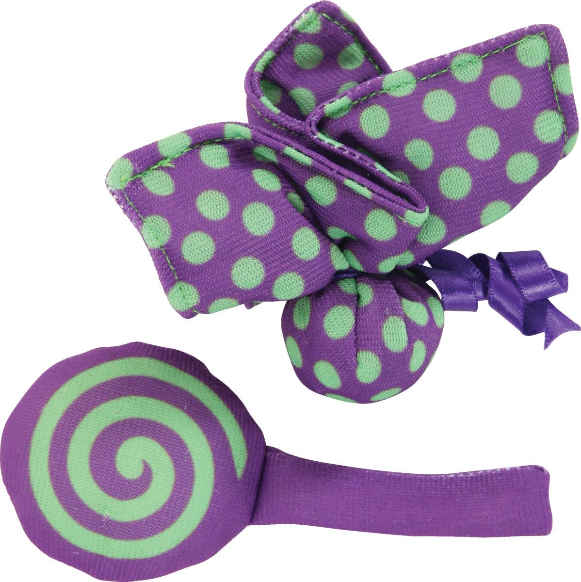 Игрушка Zolux мягкие бабочка и конфета с мятой для кошек 2 шт