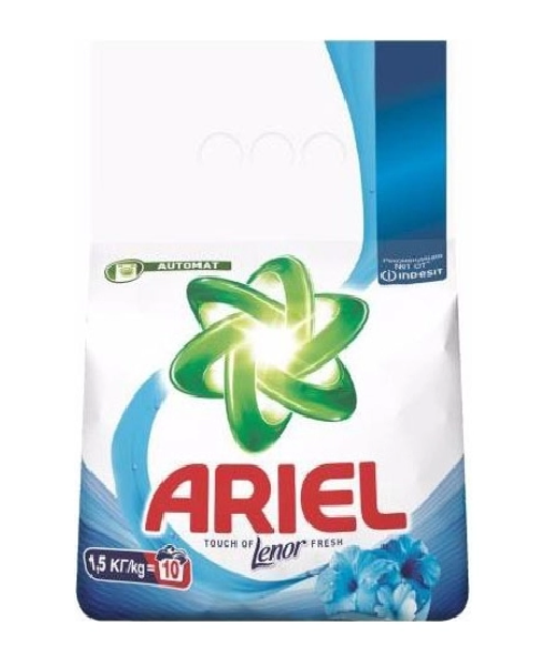 Порошок для стирки Ariel touch of lenor fresh 1.5 кг